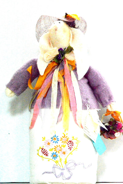 "16"" Hand Made Doll By Aunt Liz"