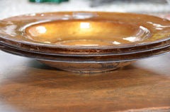"Handmade Goldleafed Back Decorative Glass Plate 11.25""."