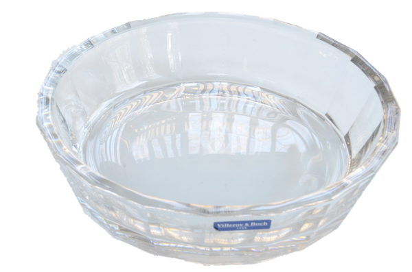 "Beautiful Crystal Decorative Dish by Villeroy & Boch, approximately 10"" in Diameter and 2 1/2"" deep."