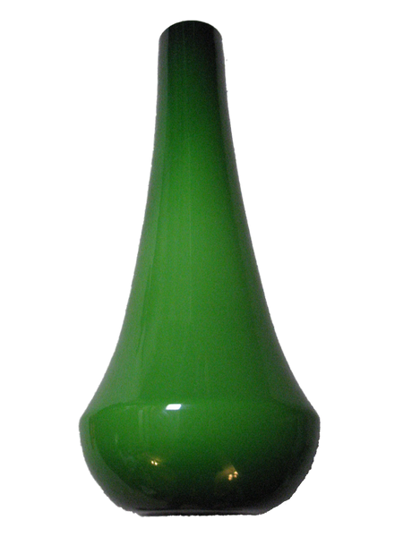 40 inch Tall Green Glass Vase