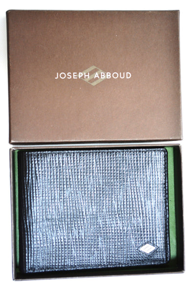 Men's 100% Leather Black Wallet By JOSEPH ABBOUD