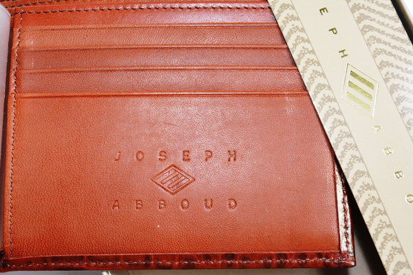Men's 100% Leather Brown Wallet By JOSEPH ABBOUD