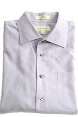 Men's 100% Cotton, Dress Shirt By John W. Nordstrom (JWN). Neck 17 and Sleeves 35. Very light Purple.