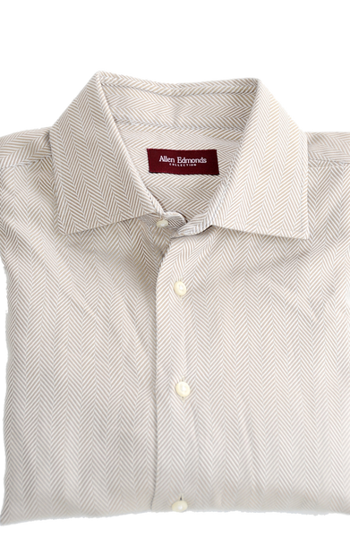 Men's Long Sleeve Dress Shirt by Allen Edmonds Collection, Size:M