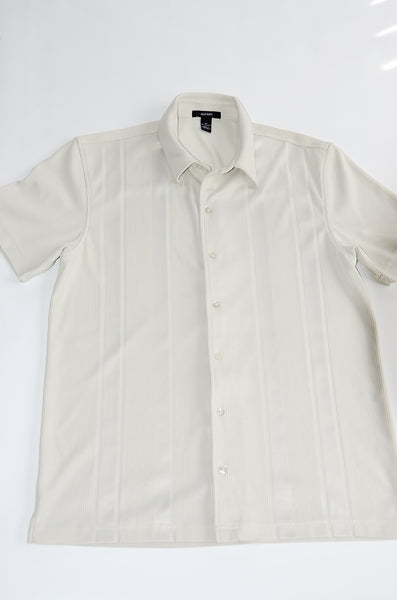 Men's Short Sleeve knit Shirt by ALFANI with 100% Soft Polyester material.