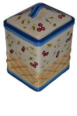 Hand Painted Porcelain Cookie Jar by Inspirado