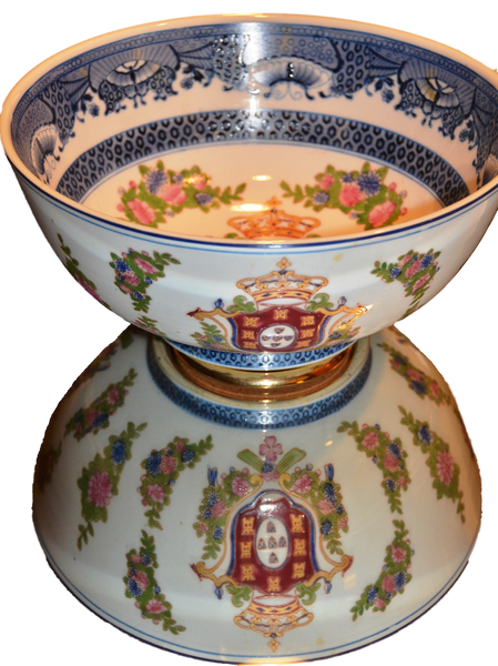 Chinese Porcelain Bowl with Floral Pattern