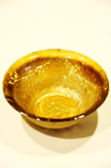 Handmade Goldleafed Back Decorative Glass Bowl
