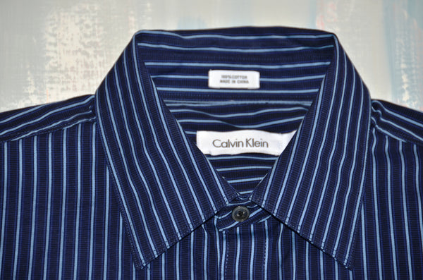 Men's Cotton Dress Shirt by Calvin Klein
