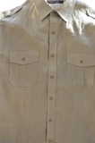 Men's 100% Linen Shirt by Taso Elba
