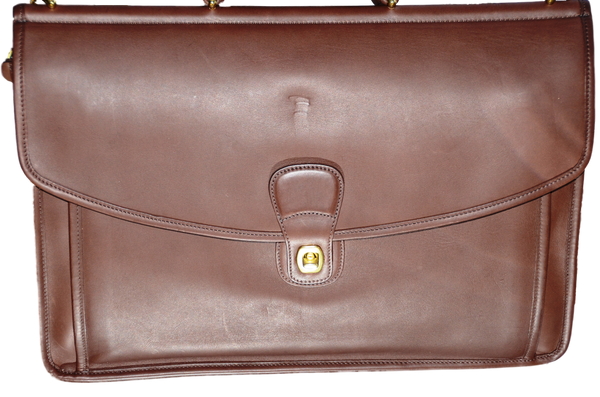 Men's Coach Beekman Brief in Leather