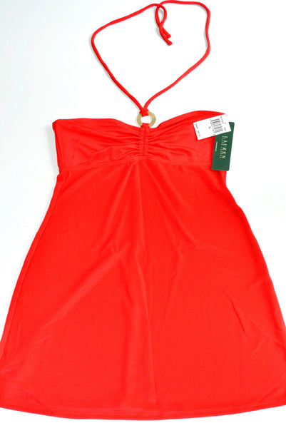 Red Dress with Spagetti Straps by Ralph Lauren