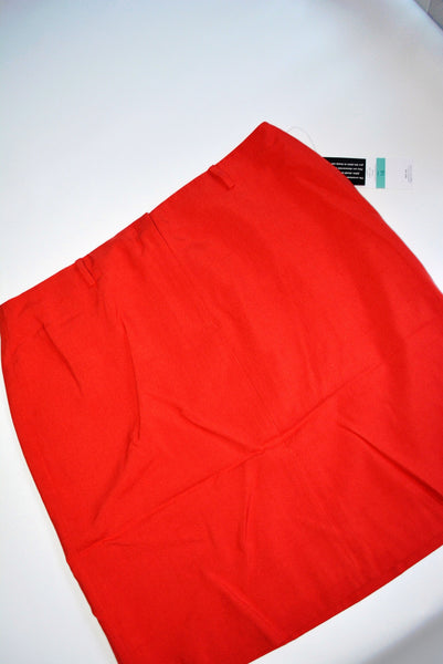 Women's Red Silk Skirt by Josephine Chaus