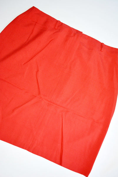 Women's Silk Skirt by Josephine Chaus . Size 16, The Shell is 100% Silk & the Lining is 100% Polyester. Color: Hibiscus 649
