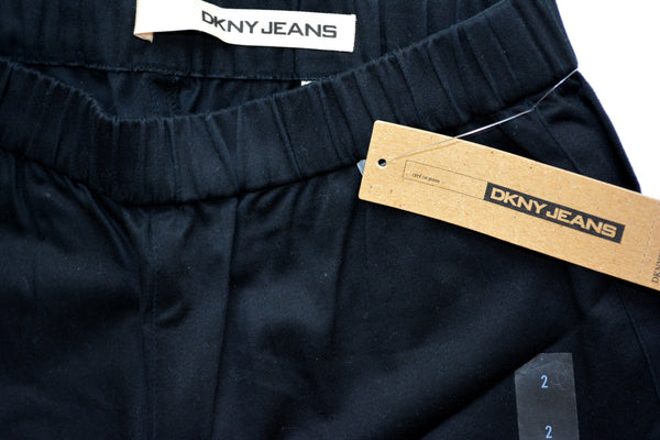 Women's DKNY Black Jeans with Elastic Waist