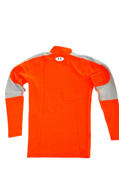 Women's Active Shirt by H - Size is Small, Color is Orange with Light Grey Arm-Bands.