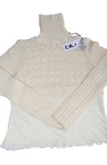 byblos b/u off white, Wool Mix Turtle-Neck for Women's & Teens. Size: S equivalent to Tg.: 44 (Italy).