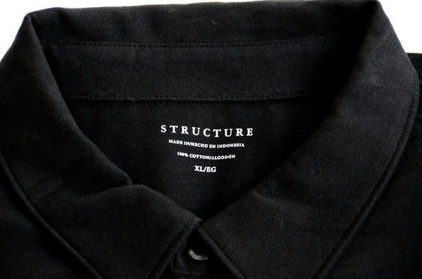 Men's Short Sleeve Cotton Knit Shirt by Structure