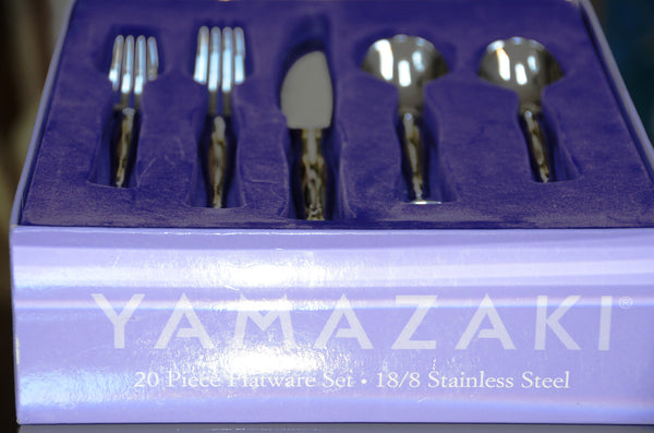 Yamazaki 20 pc Flatware Set - 18/8 Stainless Steel