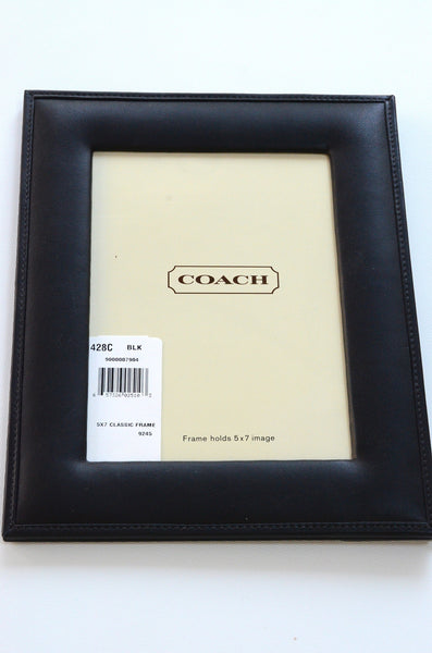 Coach Classic Black Leather Picture Frame