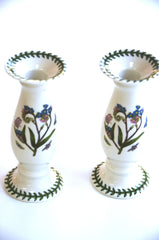 "6"" Porcelain Candlesticks by Portmeirion"