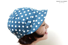 หมวก Blue Polka Dot Newsboy Cap