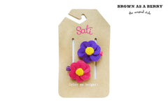 กิ๊บ BABY Poppy Flower Pink&Purple