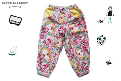 กางเกงขายาว Floral Printed Cotton Sporty Trousers