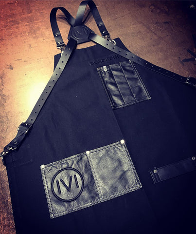 Blackened whiskey apron for Metallica