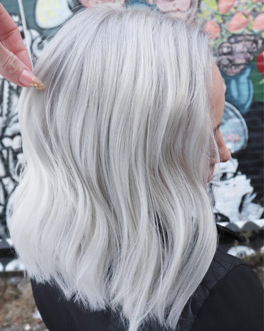 Platinum hair by Sarai Speer