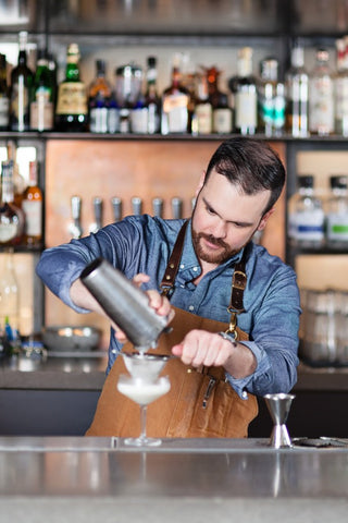 Shaun Layton at Juniper Vancouver in Search and Rescue Denim Co Duck Canvas Bartenders Apron