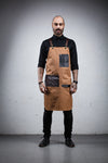 Leather Pocket Bartender Apron - Canvas