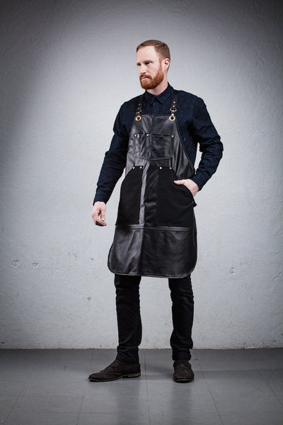 Leather Artisan's Apron - Flat Front