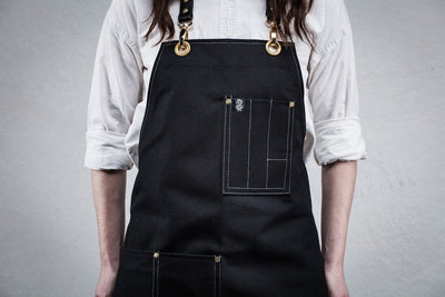 Bartender Apron - Black Canvas