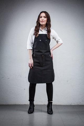 Barista Apron - Black Canvas