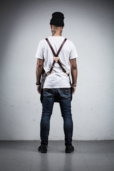 Leather & Canvas Stylist Apron