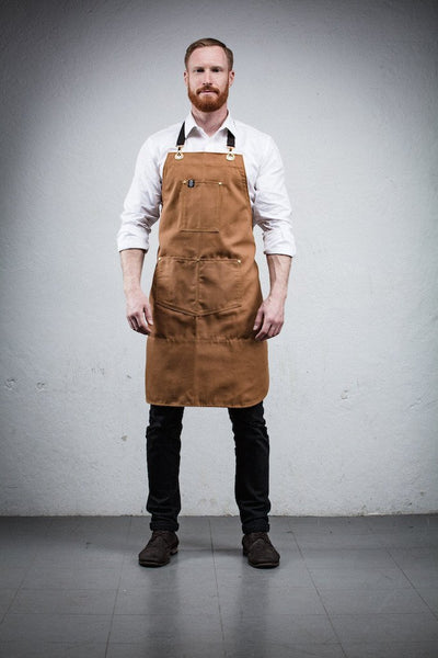 Barista Apron - Brown Canvas
