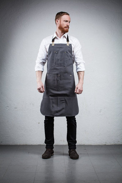 Barista Apron - Grey Canvas