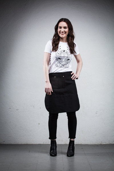 Better Bistro Apron - Black Canvas - Knee Length