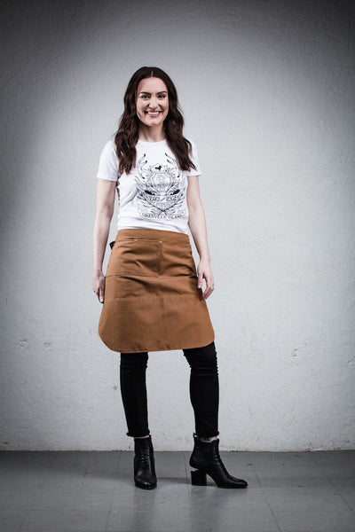 Better Bistro Apron - Brown Canvas - Knee Length
