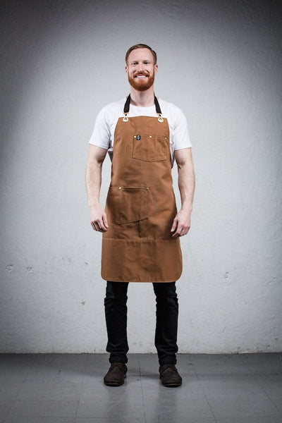 Utility Apron - Brown Canvas