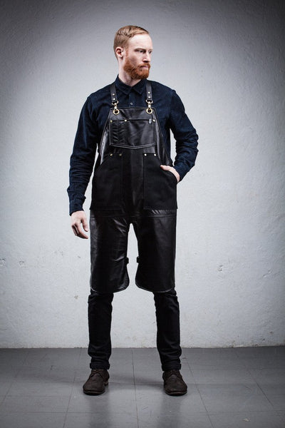 Leather & Canavs Split Leg Apron
