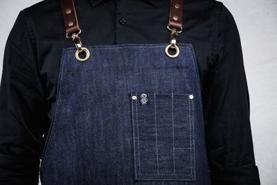 Bartender Apron - Blue Denim