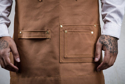 Barber & Stylist Apron - Brown Canvas