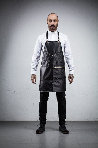 All Leather Barber Apron