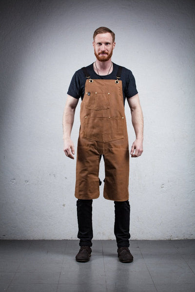 Classic Split Leg Apron - Brown Canvas