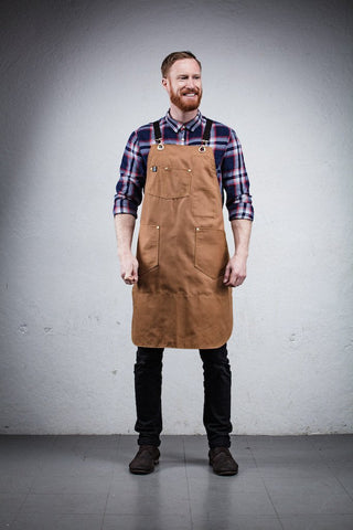 Craftsperson Apron - Brown Canvas