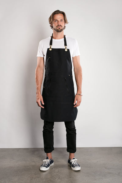 Infinite Black™ Bleachproof Stylist Apron -  Gold Hardware