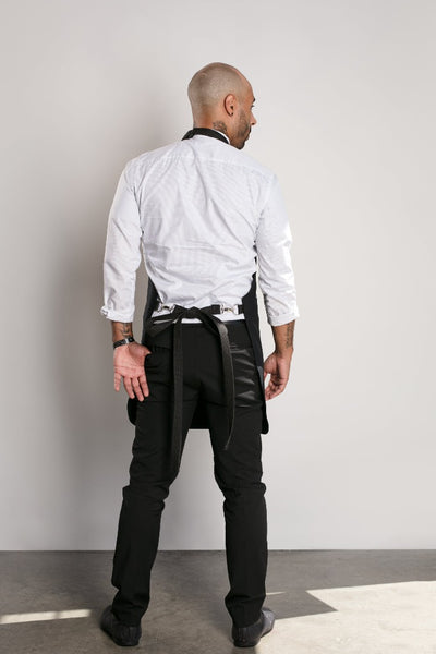 Infinite Black™ Chef Apron - Chrome Hardware