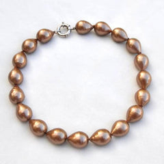 Champagne Baroque Pearl Necklace